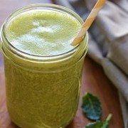 Kale, Banana, Chia, Hemp smoothie