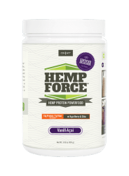 Onnit Hemp force vanilla acai protein powder