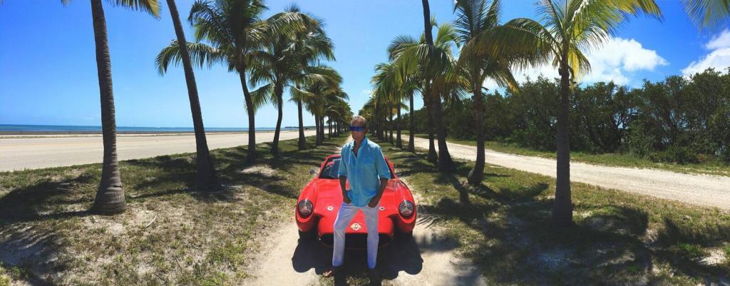 Bruce Michael Dietzen with his Cannabis Hemp Car