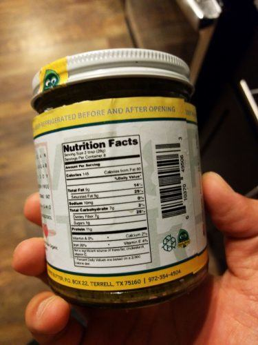 Gourmet Hemp Butter Nutrition Facts