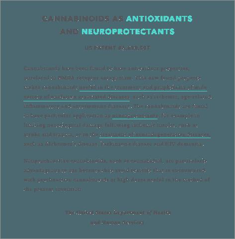 US Patent on Cannabinoids