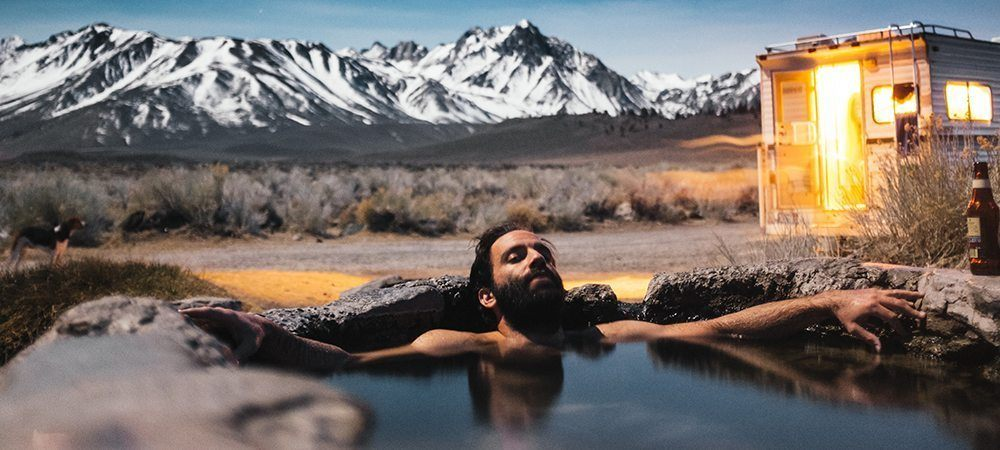 Take a bath in nature and relax