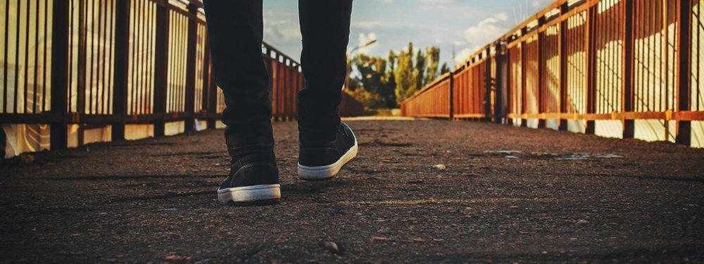 Take walks to reflect and calm down