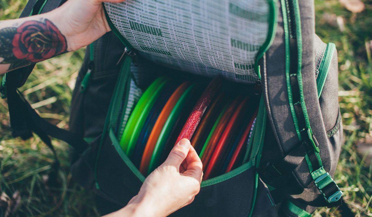 kahush hemp disc golf bag