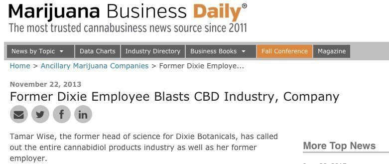 Fromer CBD employer blasts company