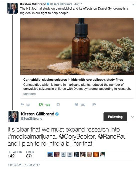 NY Senator supports hemp CBD oil legalization