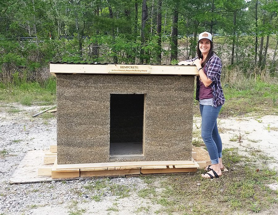 hempcrete doghouse