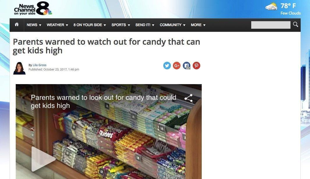 media spreads false claims on cbd candy