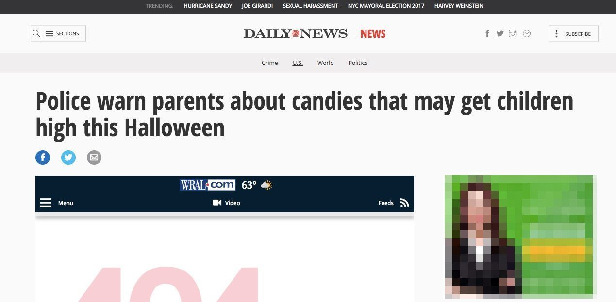NY Daily article on cbd candy halloween