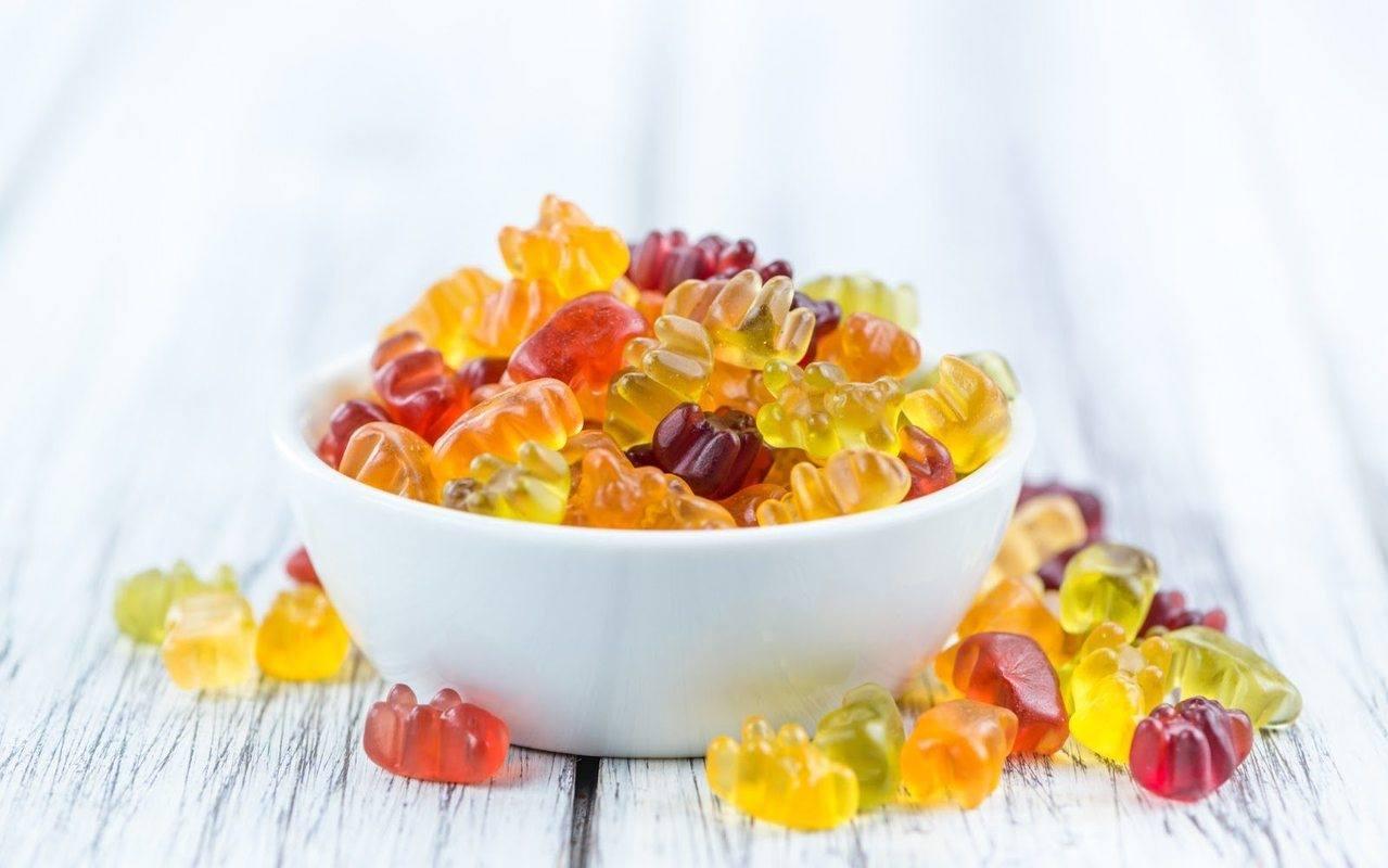 Best CBD gummies overflowing in a bowl
