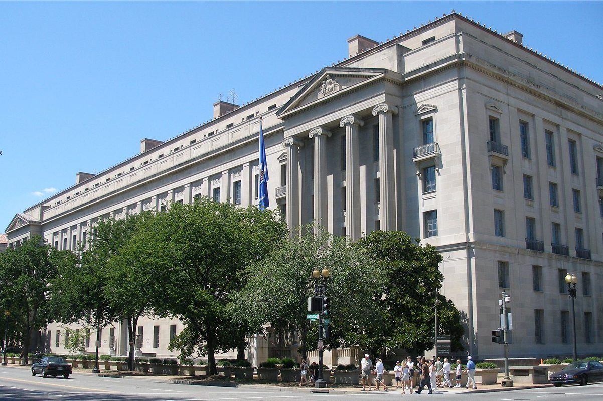 DOJ headquarters in Washington, D.C.