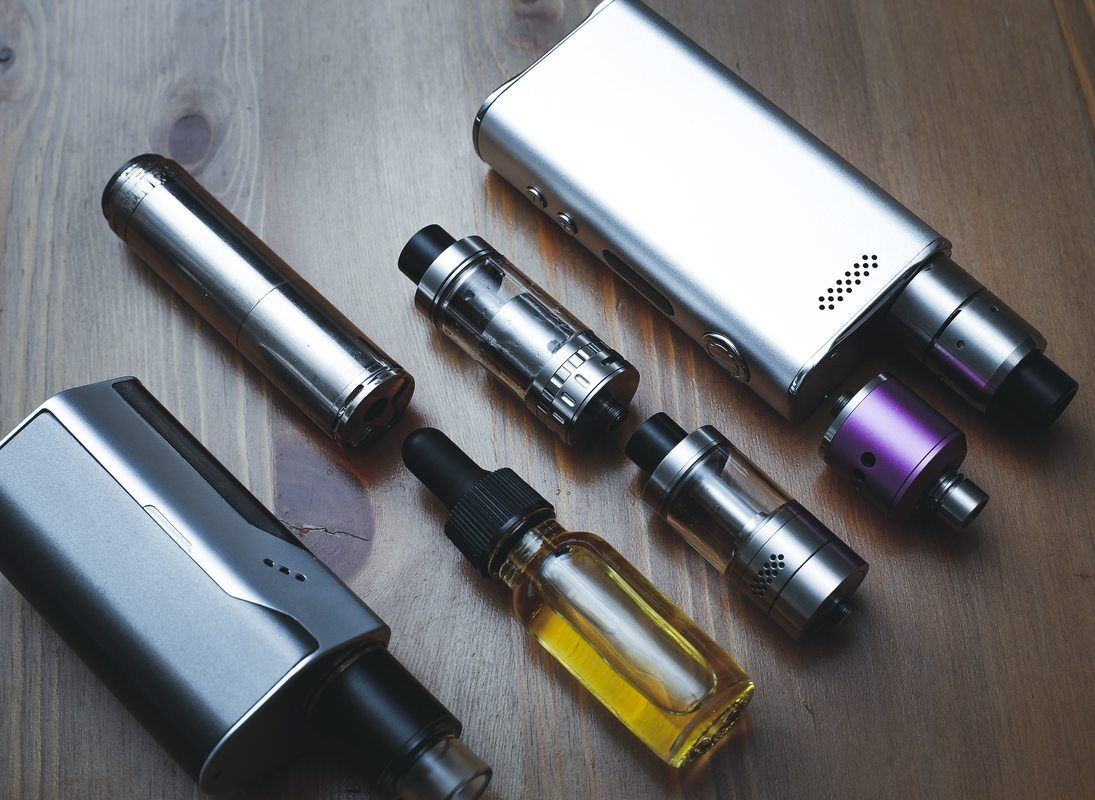 a collection of parts for Vaping CBD