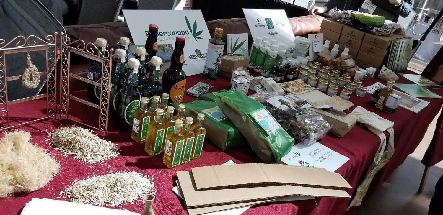 The Noco Hemp Expo featured hemp goods from around the world.