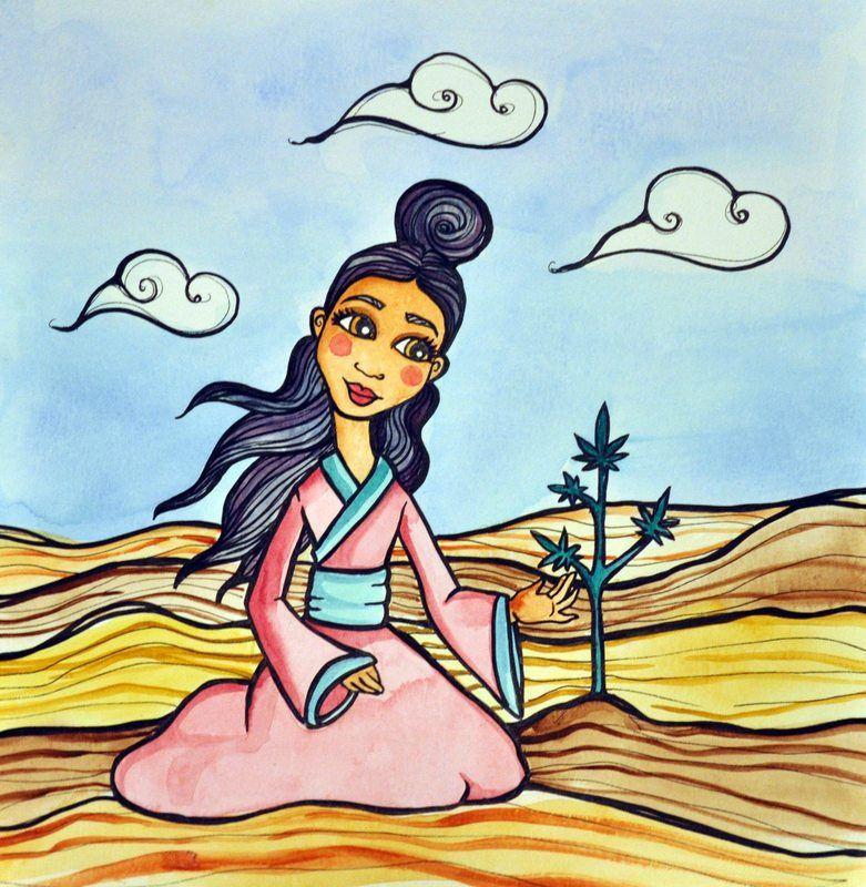 Hana Hemp and her friend Callie Cannabis help parents teaching kids about hemp and cannabis.