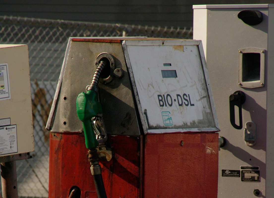 A biodisel fuel pump at a filling station. Biodiesel is one very appealing option for hemp biofuel.
