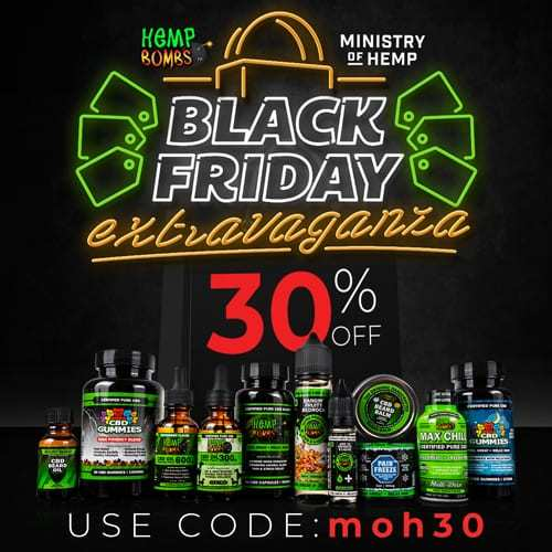 Hemp Bombs (Ministry of Hemp Black Friday CBD Deals 2018)