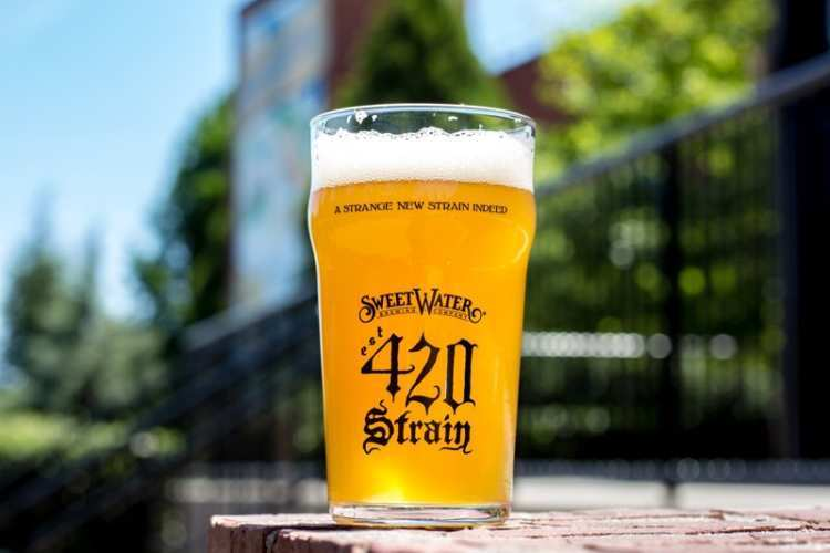 Sweetwater Brewing Company 420 Strain G13 IPA craft hemp beer