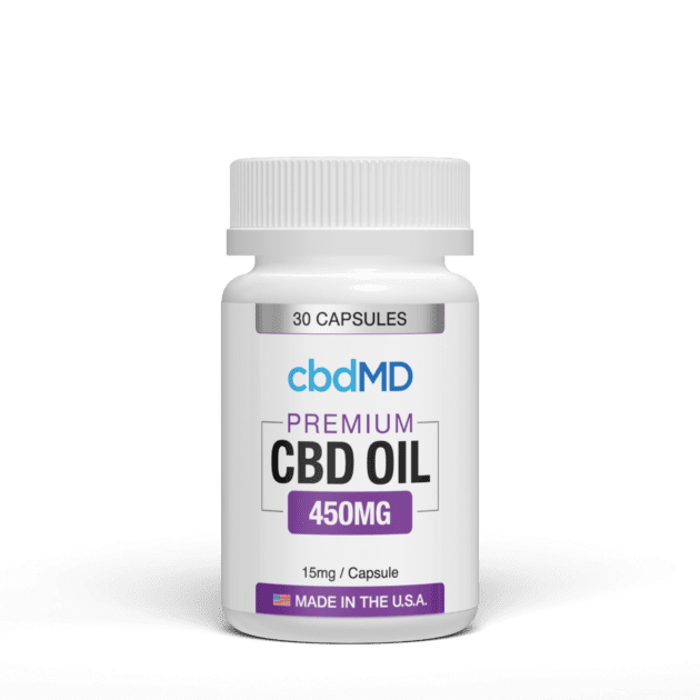 cbdMD CBD Oil Capsules (Ministry of Hemp Top CBD Capsules)