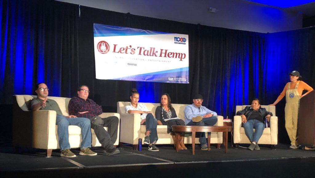 The indigenous hemp growers panel at NoCo 2019.