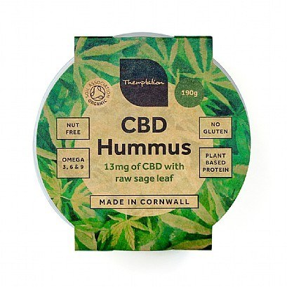 Hummus infused with CBD