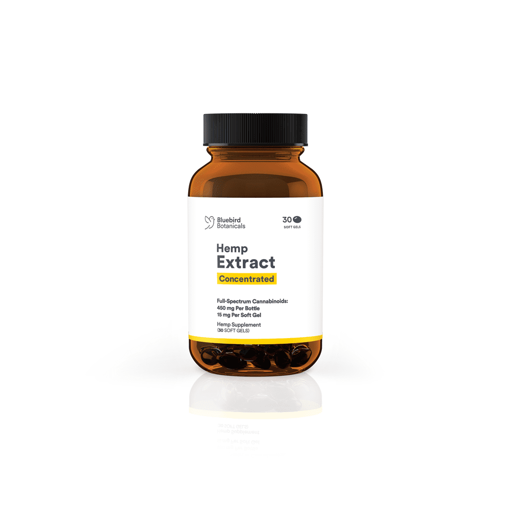 Bluebird Botanicals Concentrated CBD Capsules