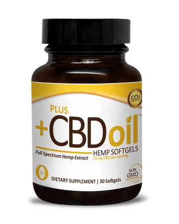 PlusCBD Oil Gold Softgels
