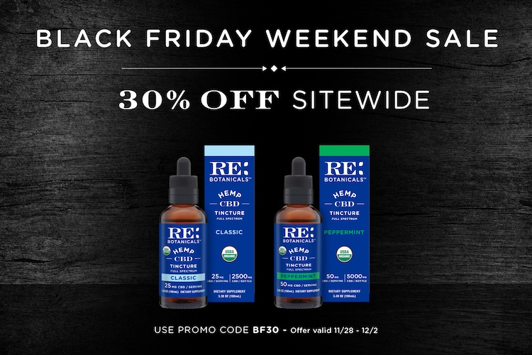 RE Botanicals Black Friday Cyber Monday promotion