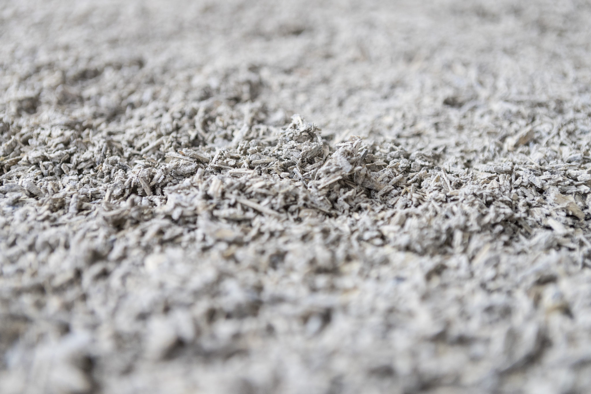 Hempcrete, made from the core of the hemp plant, could be an essential ingredient in sustainable building in the near future. Photo: Raw hempcrete made from finely chopped up cores (hurds) of hemp plants.