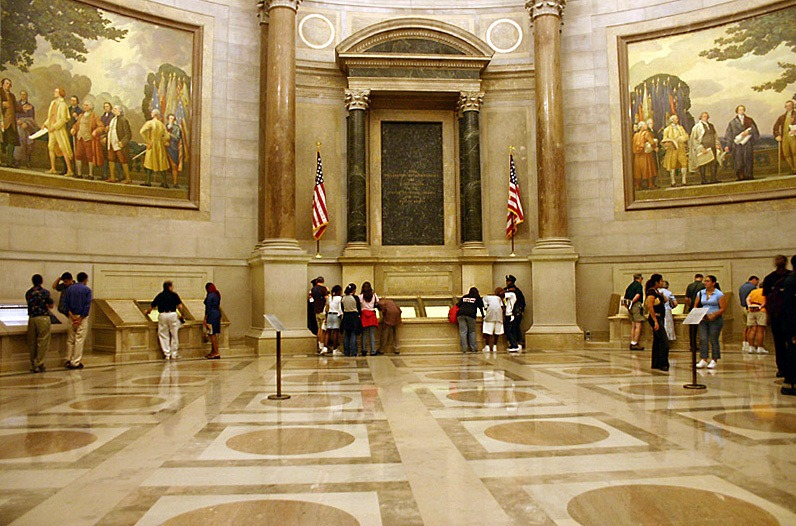 """Hemp For Victory"" can be found in the U.S. National Archives, thanks to the efforts of hemp advocates like Jack Herer and John Birrenbach. Photo: The rotunda of the U.S. National Archives."