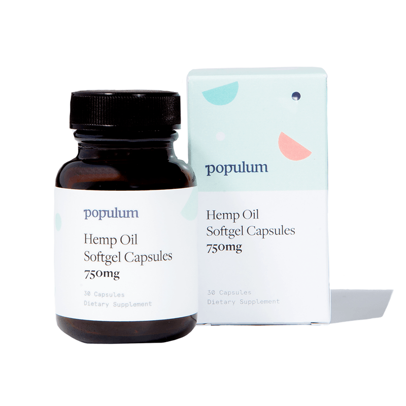 Populum Hemp Oil Softgel Capsules