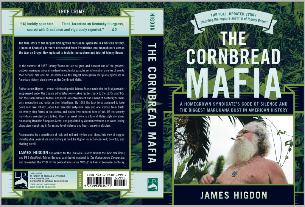 """Before starting Cornbread Hemp, James Higdon documented the story of the """"Cornbread Mafia,"""" generations of illegal cannabis growers in Kentucky. Photo: The cover of """"The Cornbread Mafia"""" by James Higdon"""