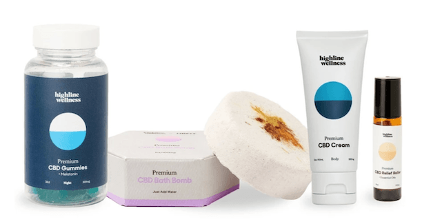 Highline Wellness Dusk Kit offers CBD products for a relaxing evening.